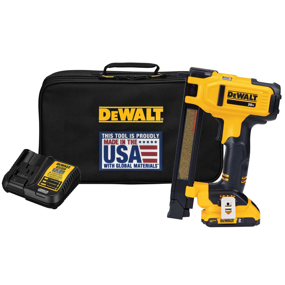 DeWalt 20-Volt MAX Lithium-Ion Cordless Cable Stapler with 2.0 Ah Battery, Charger and Bag