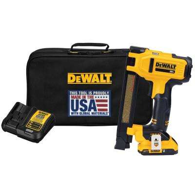 20-Volt MAX Lithium-Ion Cordless Cable Stapler with 2 0 Ah Battery, Charger  and Bag