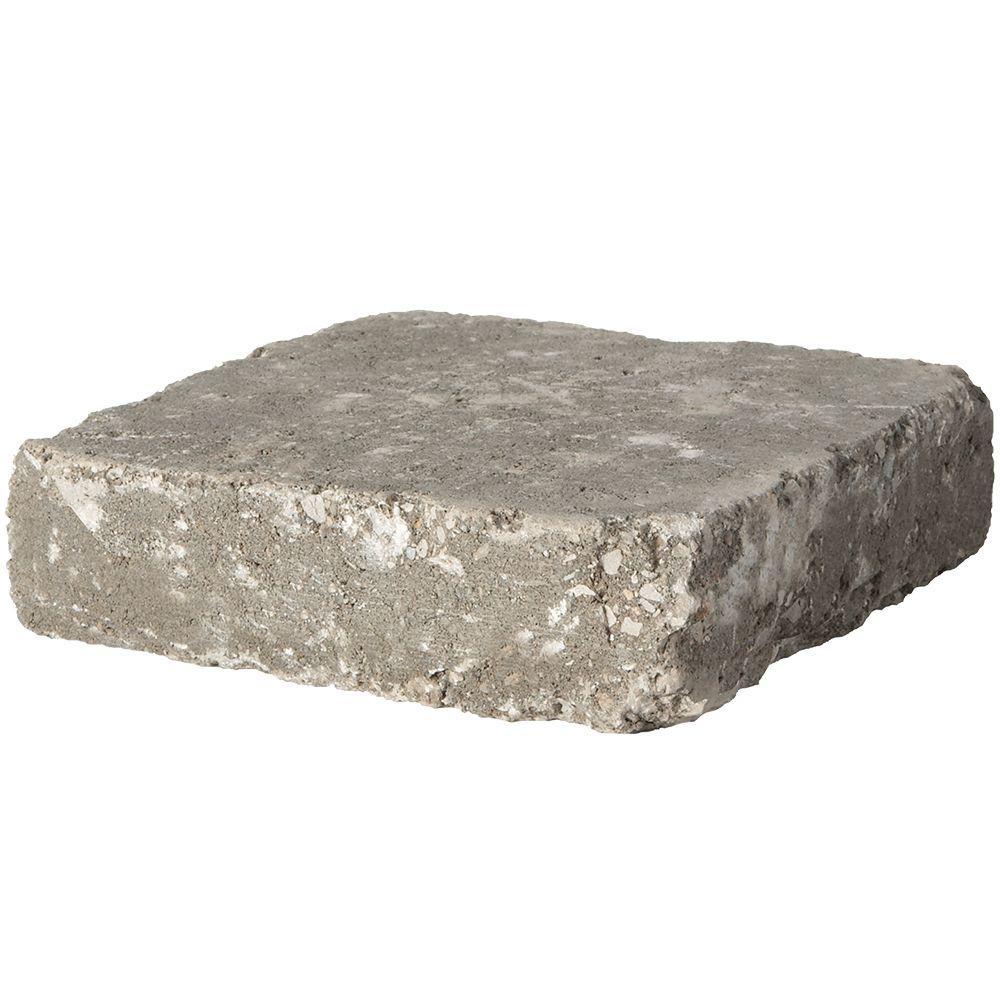 Pavestone RumbleStone Square 7 in. x 7 in. Greystone Concrete Paver