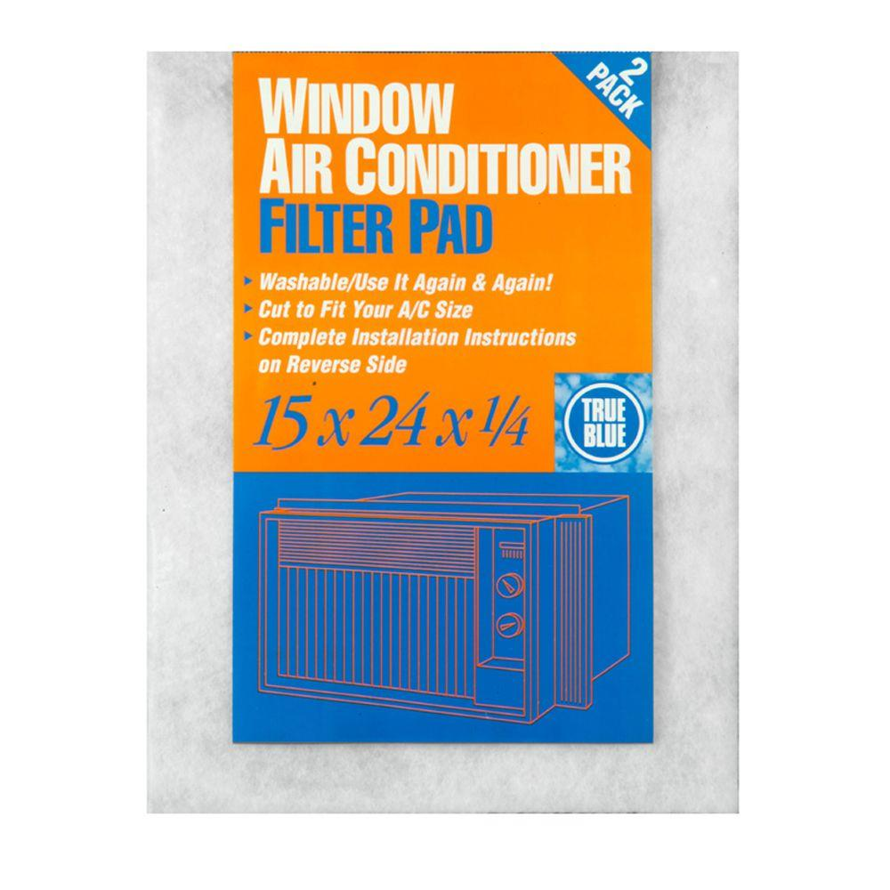 True Blue 15 in. x 24 in. x 1/4 in. Window AC FPR 2 Washable Filter (12-Pack)
