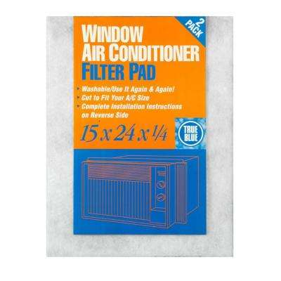 15 in. x 24 in. x 1/4 in. Window AC FPR 2 Washable Filter (12-Pack)
