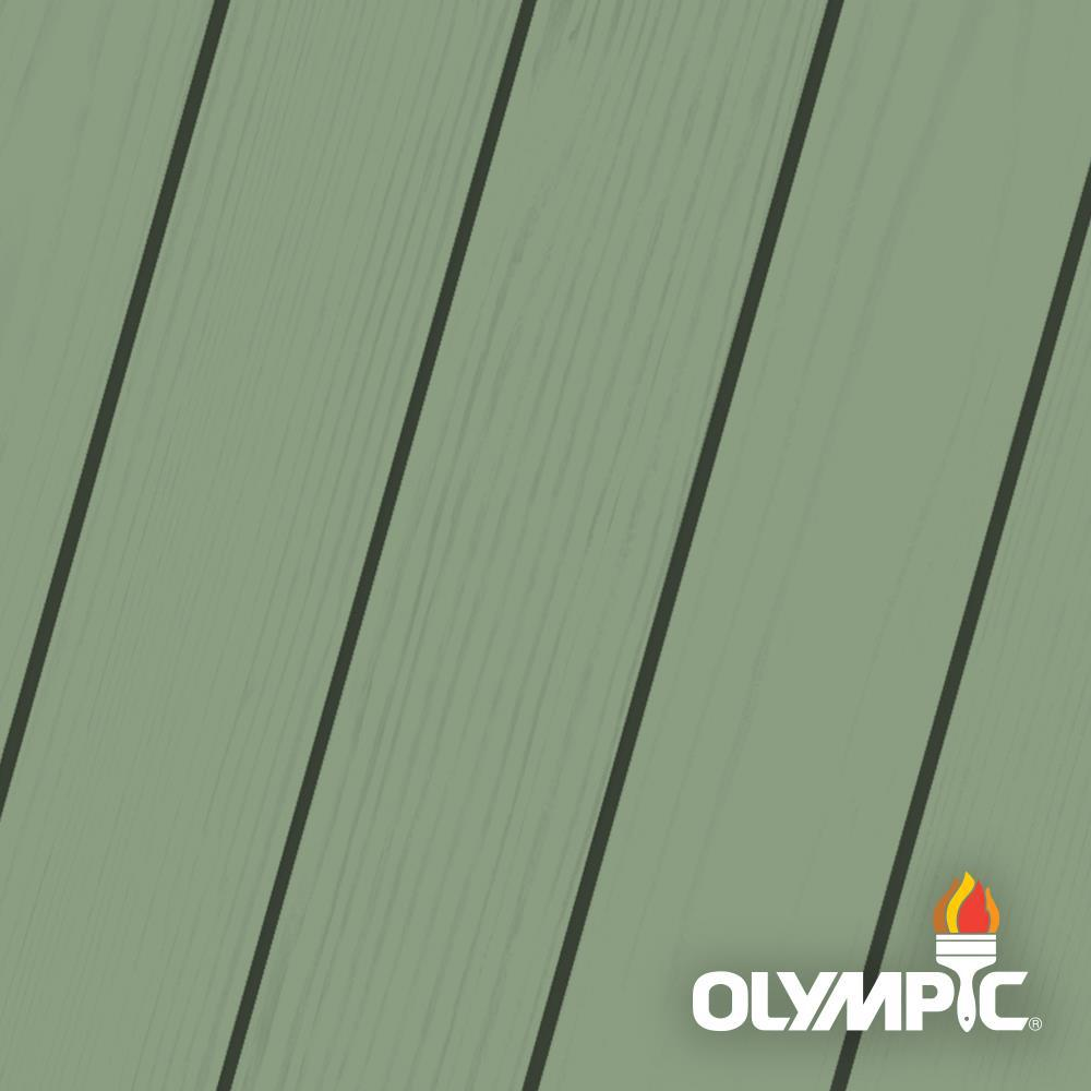 Olympic Maximum 1-qt. Woodland Green Solid Color Exterior Stain and ...
