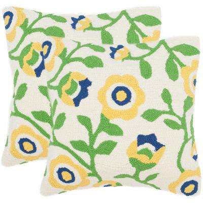 Provence Floral Soleil Square Outdoor Throw Pillow (Pack of 2)