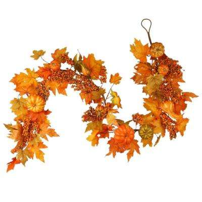 Harvest Accessories 70 in. Garland with Maples and Pumpkins