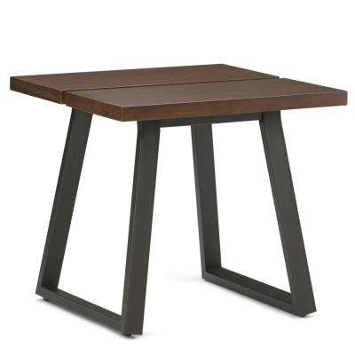 Adler Light Walnut Brown Square End Table