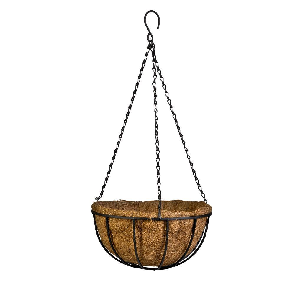Gilbert & Bennett Canterbury 12 in. Metal and Coconut Liner Hanging Basket