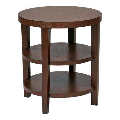 Merge 20 in. Mahogany Round End Table