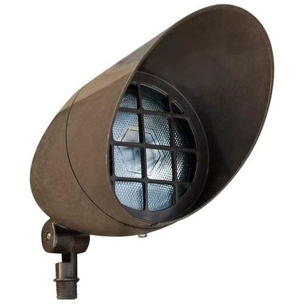 Landscape Flood Lights Spotlights: Filament Design Skive 1-Light Bronze Outdoor Directional