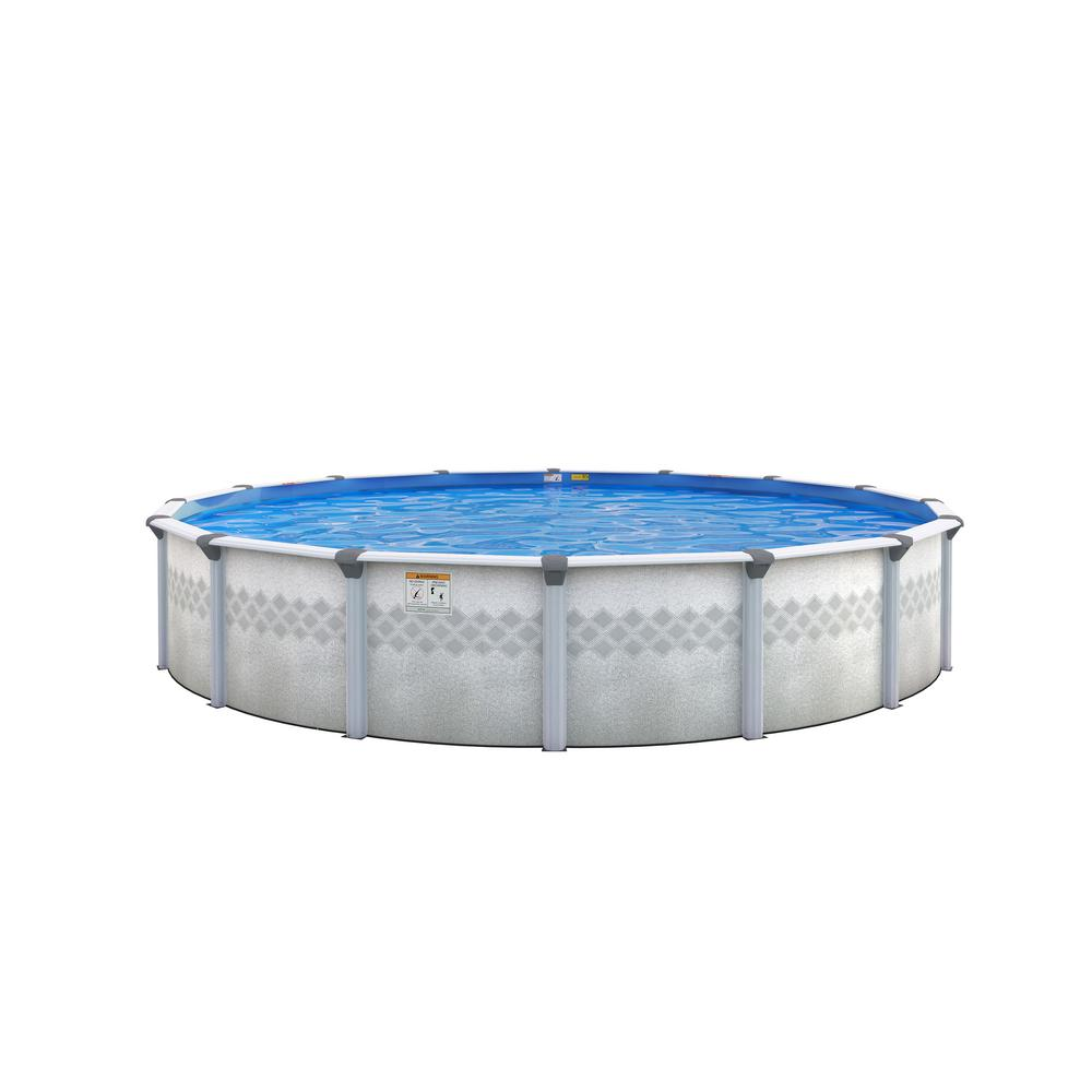 St Lucia 24 Ft Round X 48 In Deep Above Ground Pool