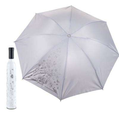 White and Silver Wine Bottle Umbrella