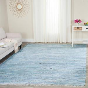 Safavieh Rag Rug Light Blue/Multi 6 ft. x 9 ft. Area Rug-RAR125A-6 ...