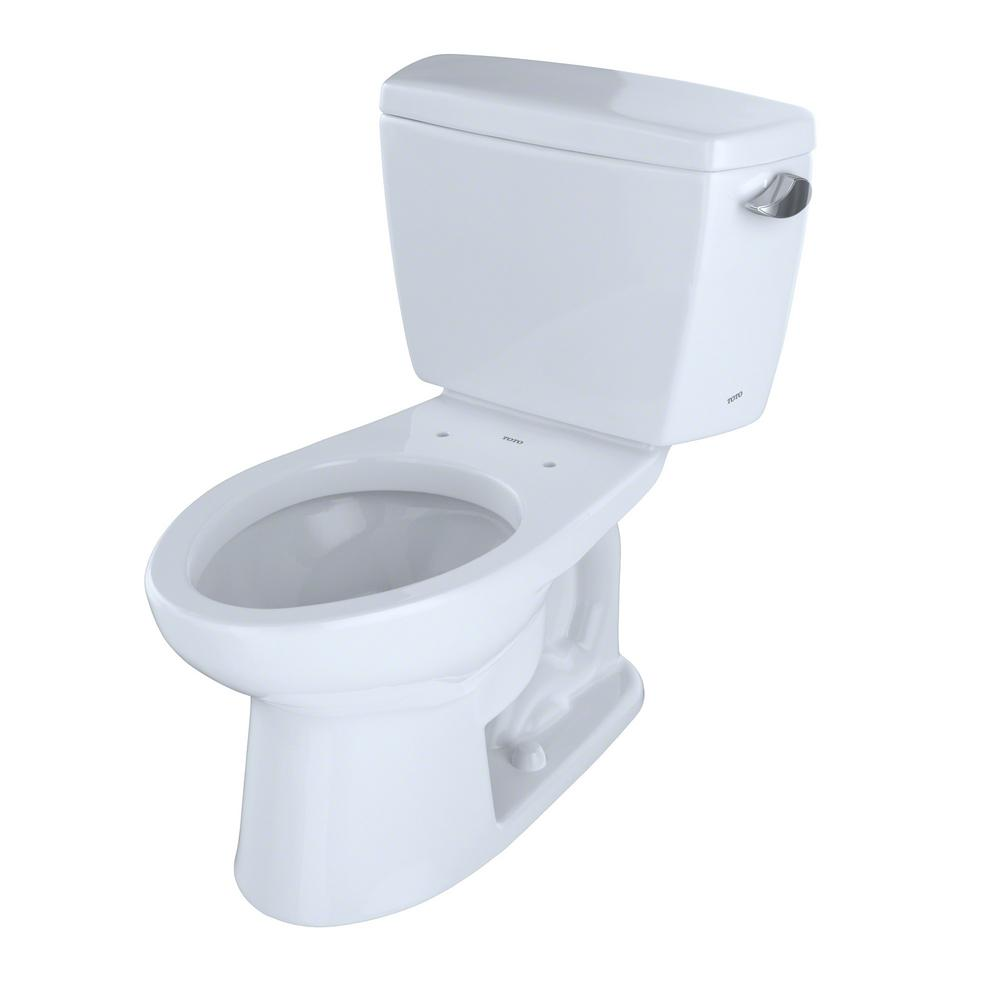 Toto Eco Drake 2 Piece 1 28 Gpf Single Flush Elongated Toilet With 10 In Rough