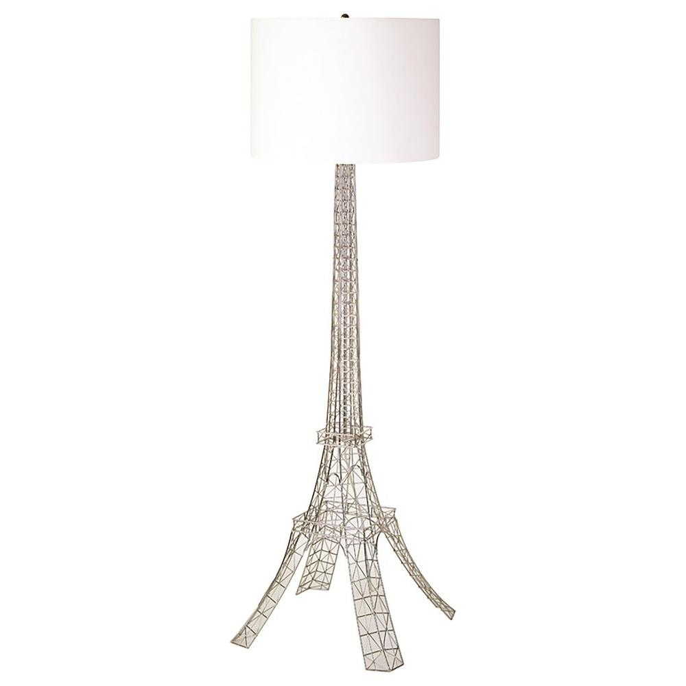 Renwil Gustave 58 in. Antique Silver Floor Lamp