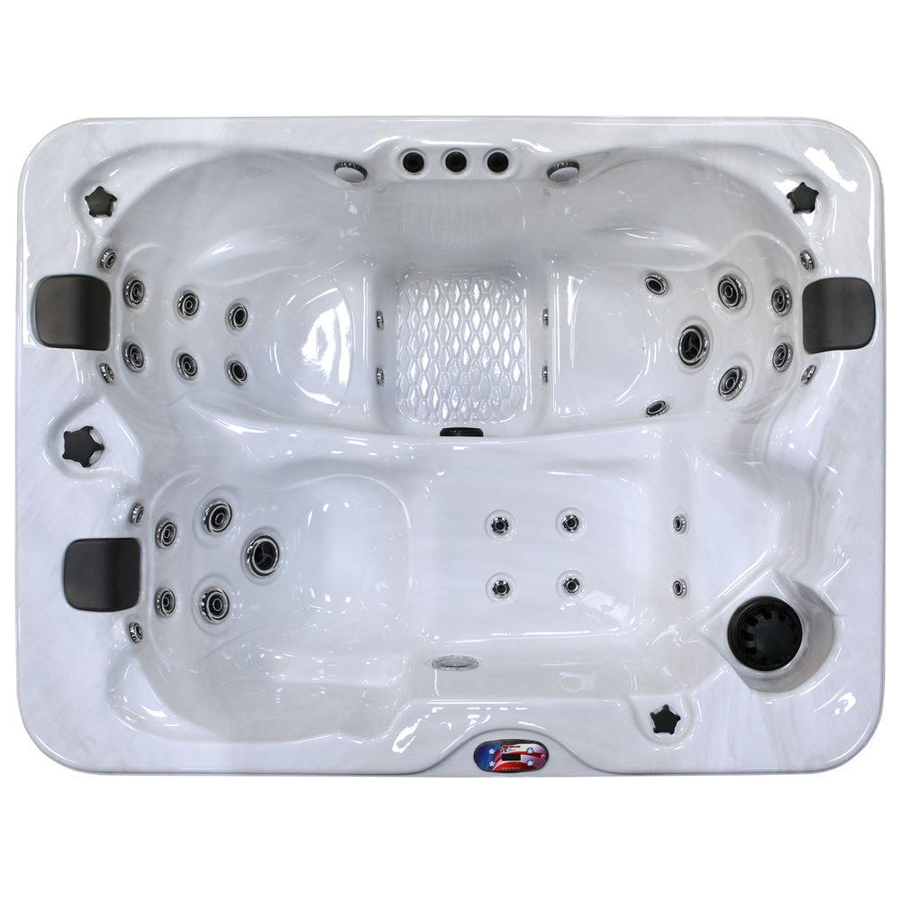American Spas 3-Person 34-Jet Premium Acrylic Lounger Spa Hot Tub ...