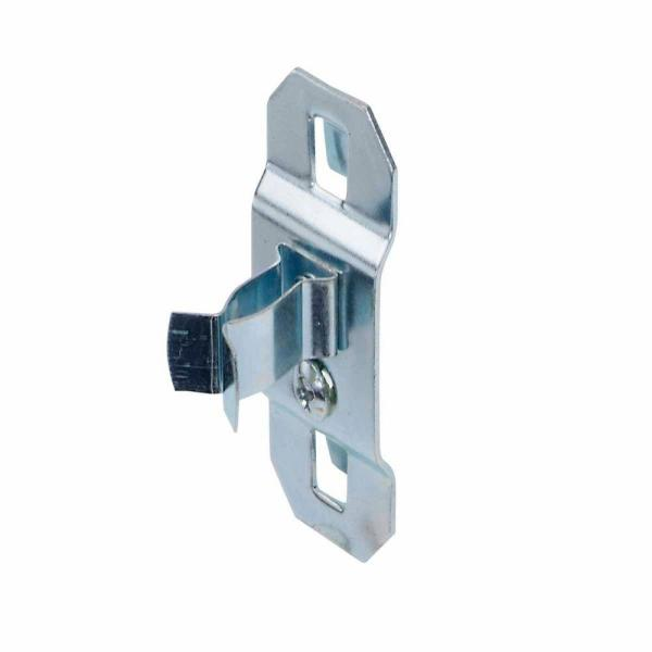 1/4 in. - 1/2 in. Hold Range 7/8 in. Projection Steel Extended Spring Clip for LocBoard (5-Pack)
