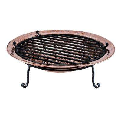 36 in. Large Polished Copper Fire Pit