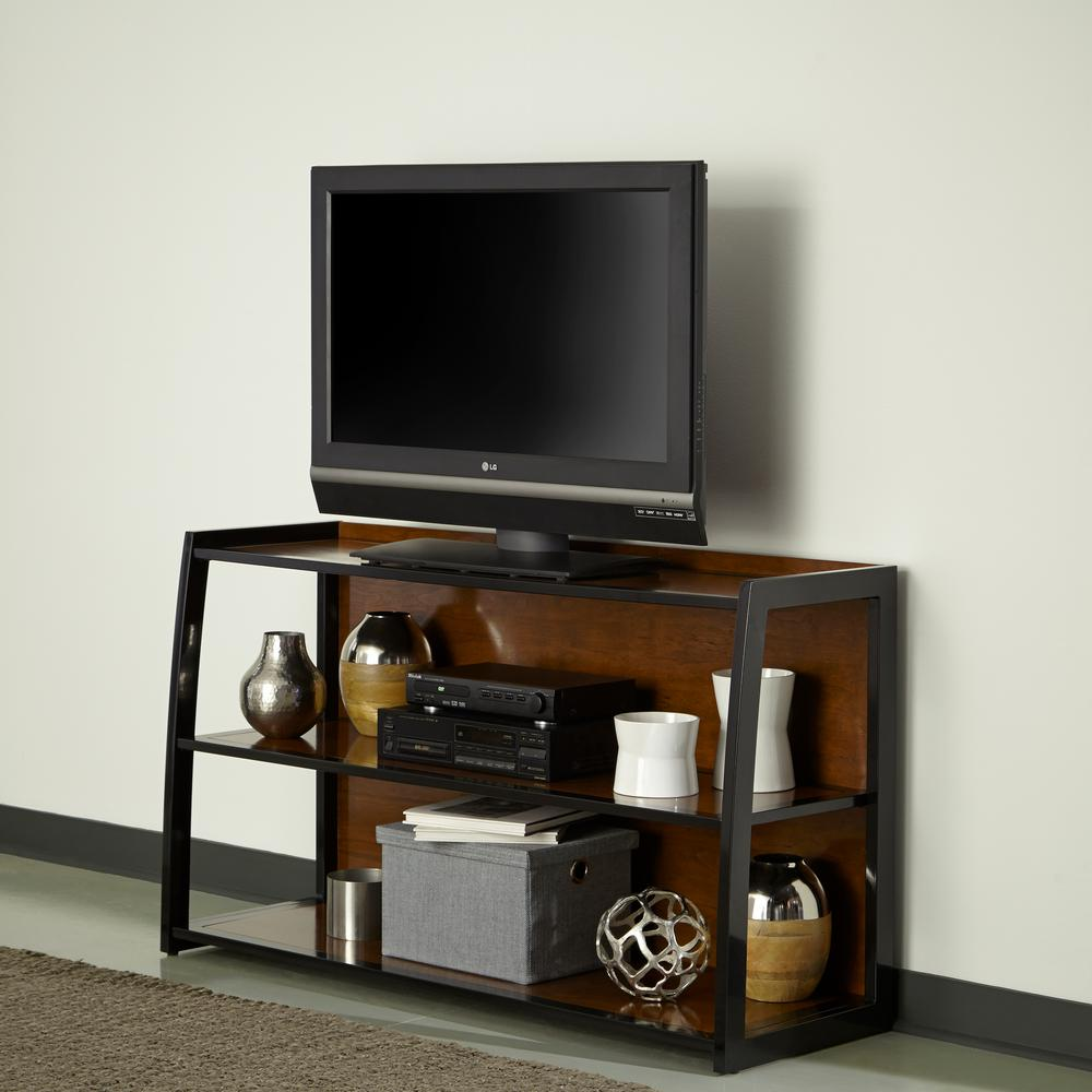 Aero Cherry and Black Entertainment Center