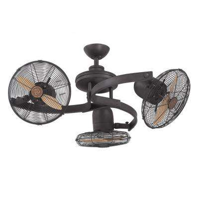 Jeff 38 in. English Bronze Indoor Ceiling Fan