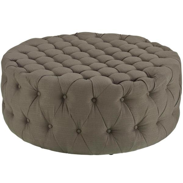 Granite Amour Upholstered Fabric Ottoman