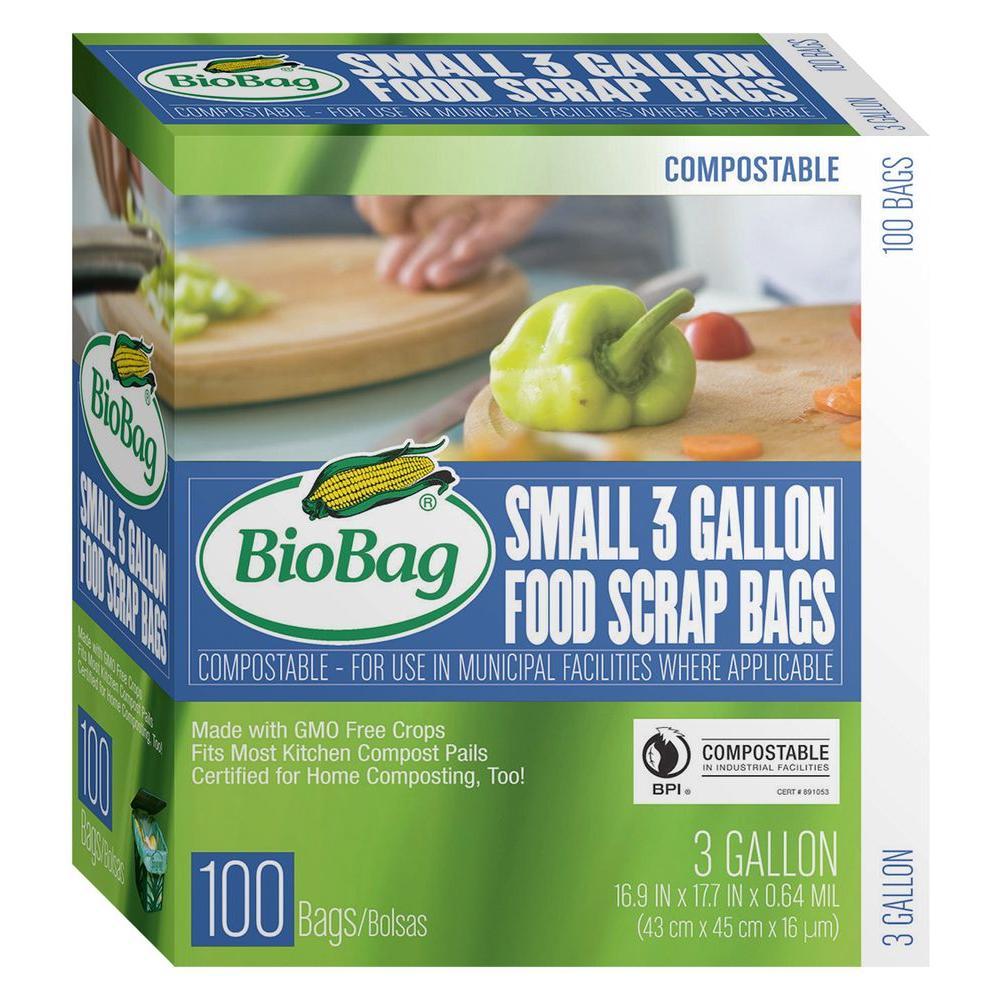 Biobag 3 Gal Food S Bags 100 Count