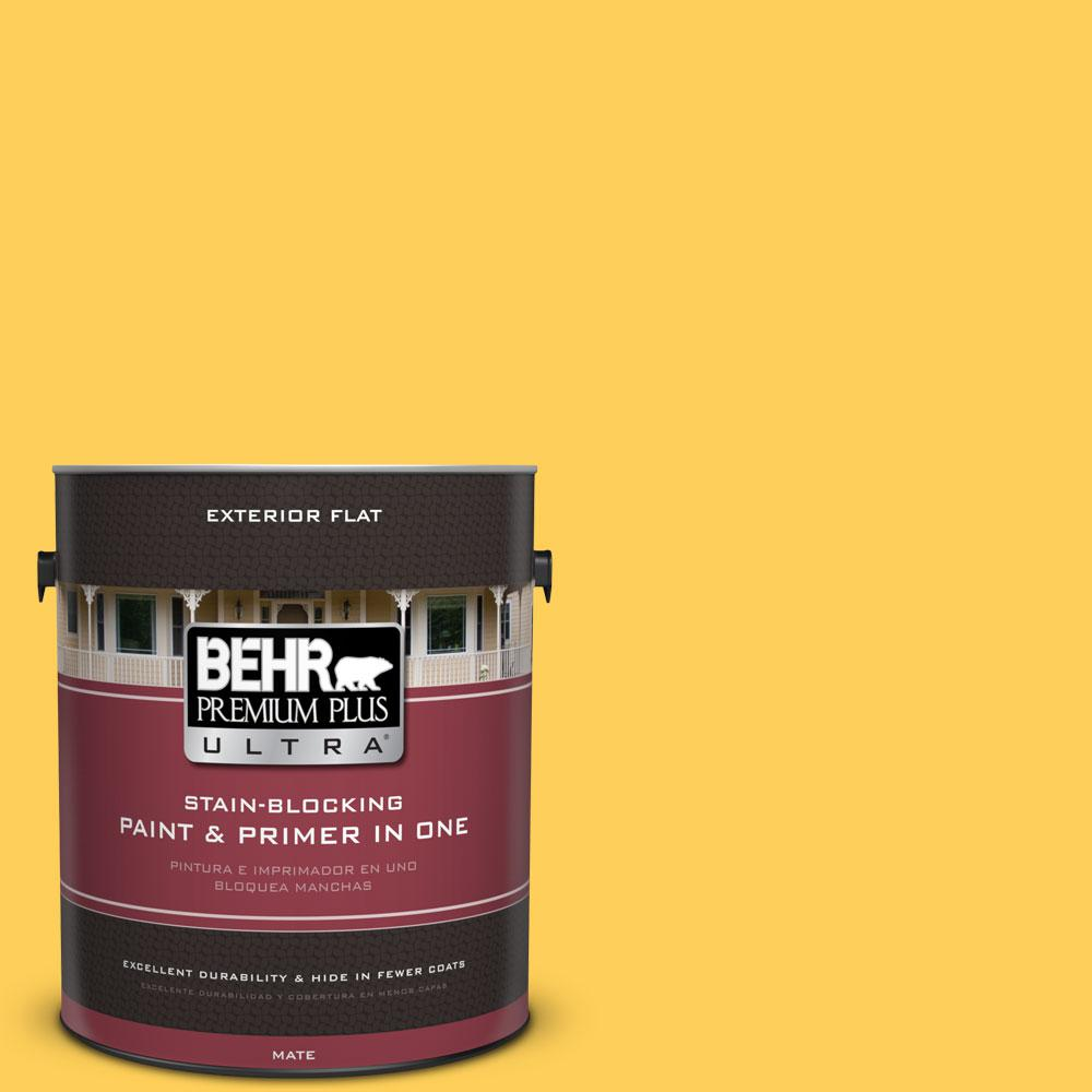 1-gal. #330B-6 Lemon Sorbet Flat Exterior Paint