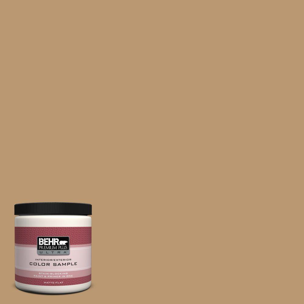 BEHR Premium Plus Ultra 8 oz. #ECC-24-1 Amber Leaf Interior/Exterior Paint Sample
