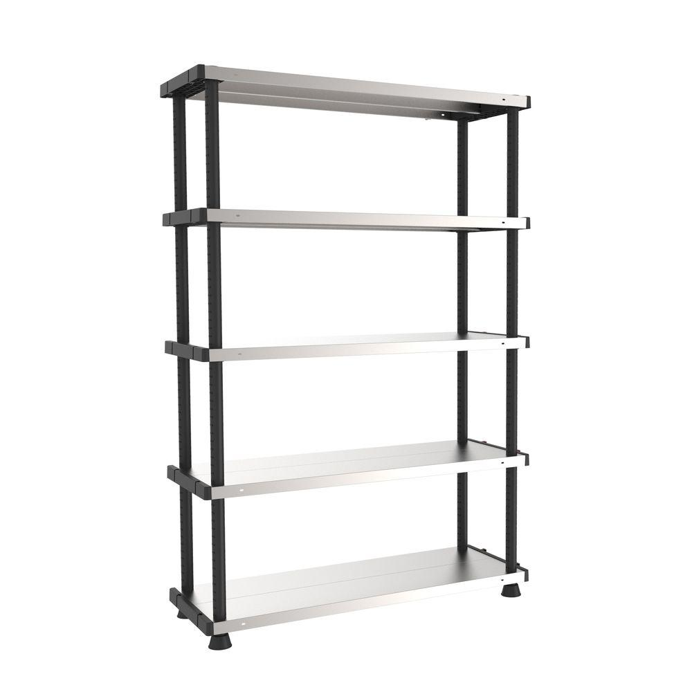 steel storage shelves shelves 5 tier metal shelf sh5tms the home depot 26782