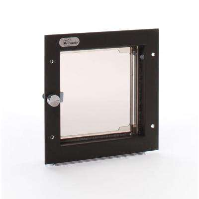 6.5 in. x 7.25 in. Small Bronze Wall Mount Cat or Small Dog Door Requires No Replacement Flap