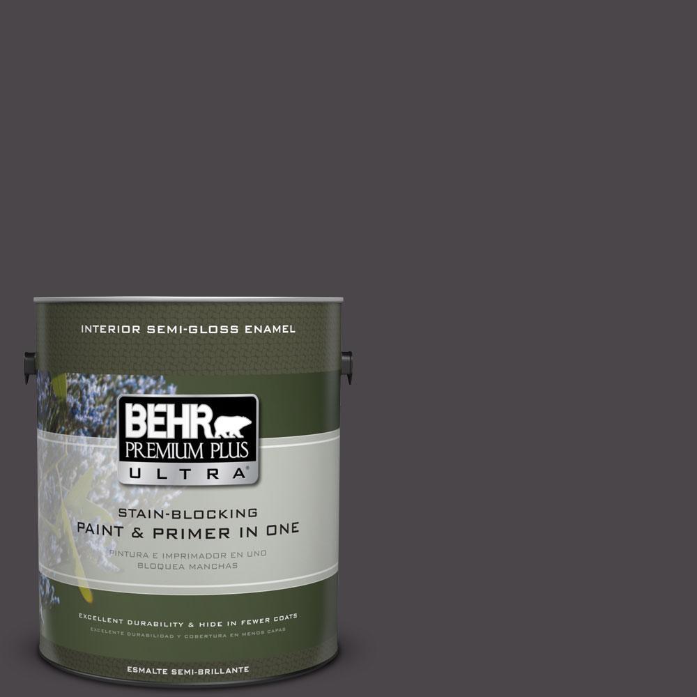 BEHR Premium Plus Ultra 1-gal. #N550-7 Catwalk Semi-Gloss Enamel Interior Paint