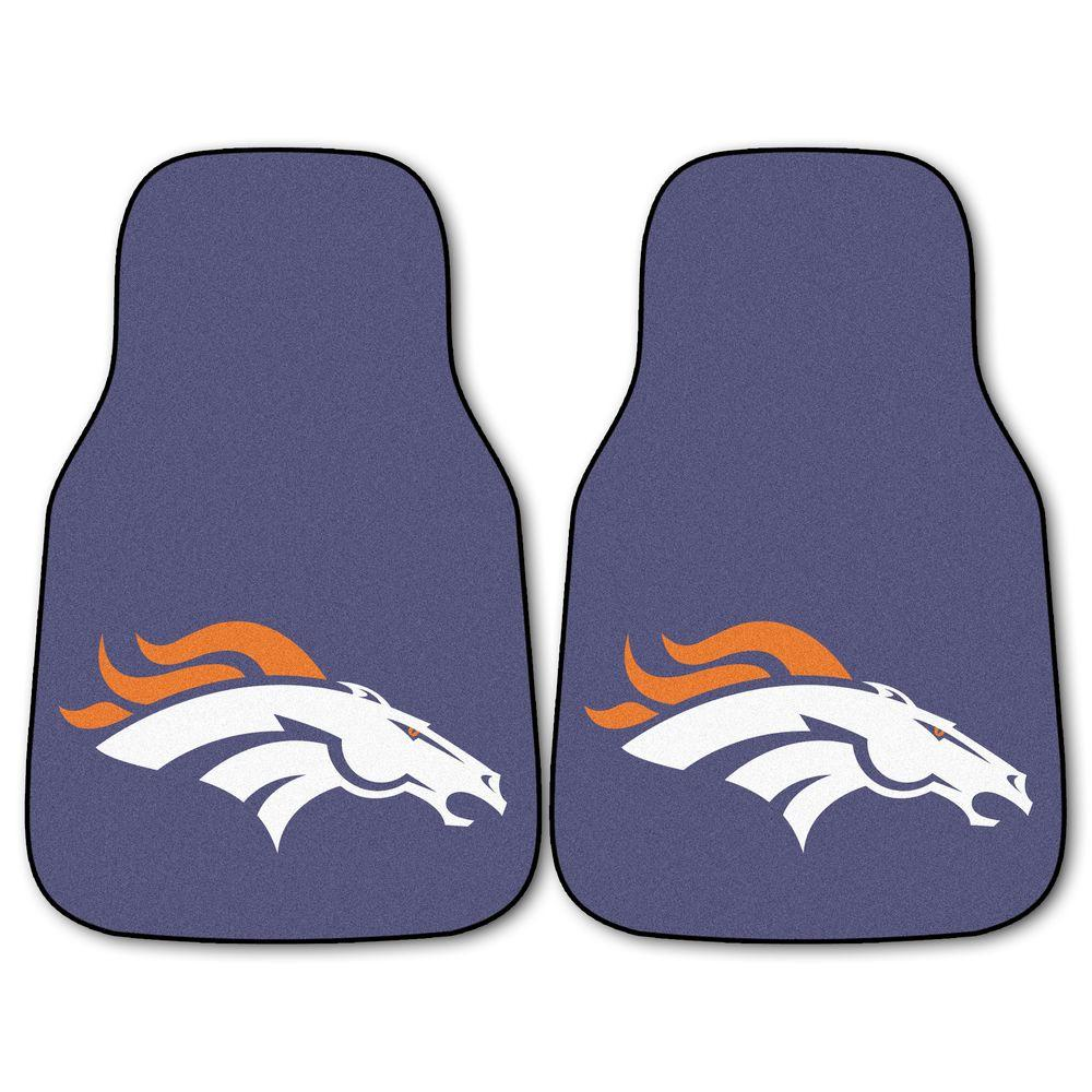 Fanmats Denver Broncos 18 In X 27 In 2 Piece Carpeted