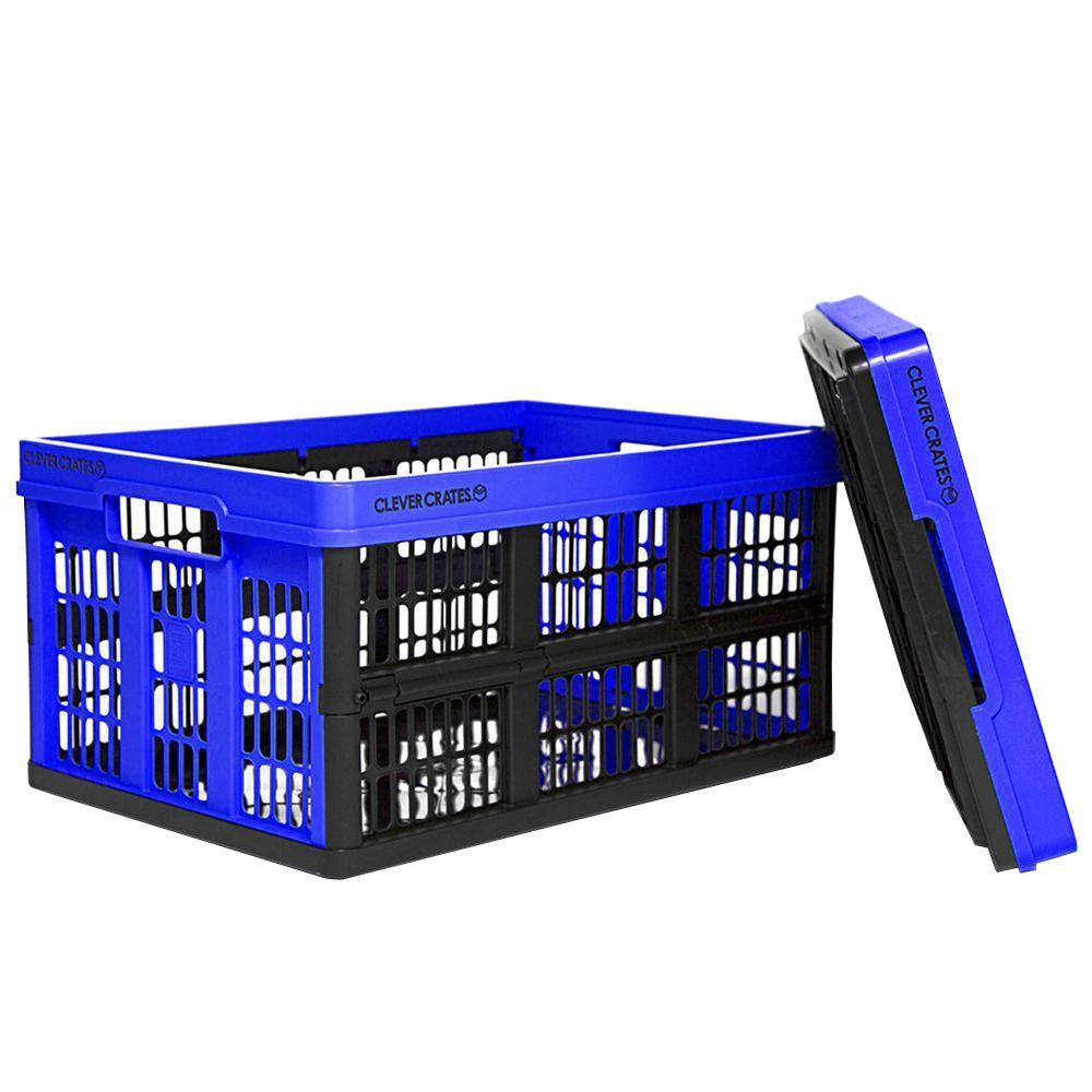 Clever Crates 47.5 Qt. Collapsible Storage Box In Royal Blue