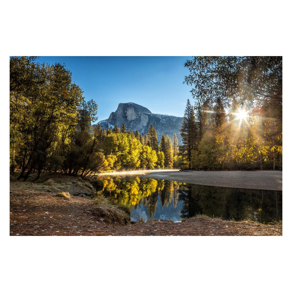 Yosemite Home Decor Tempered Glass Series Morning In Paradise