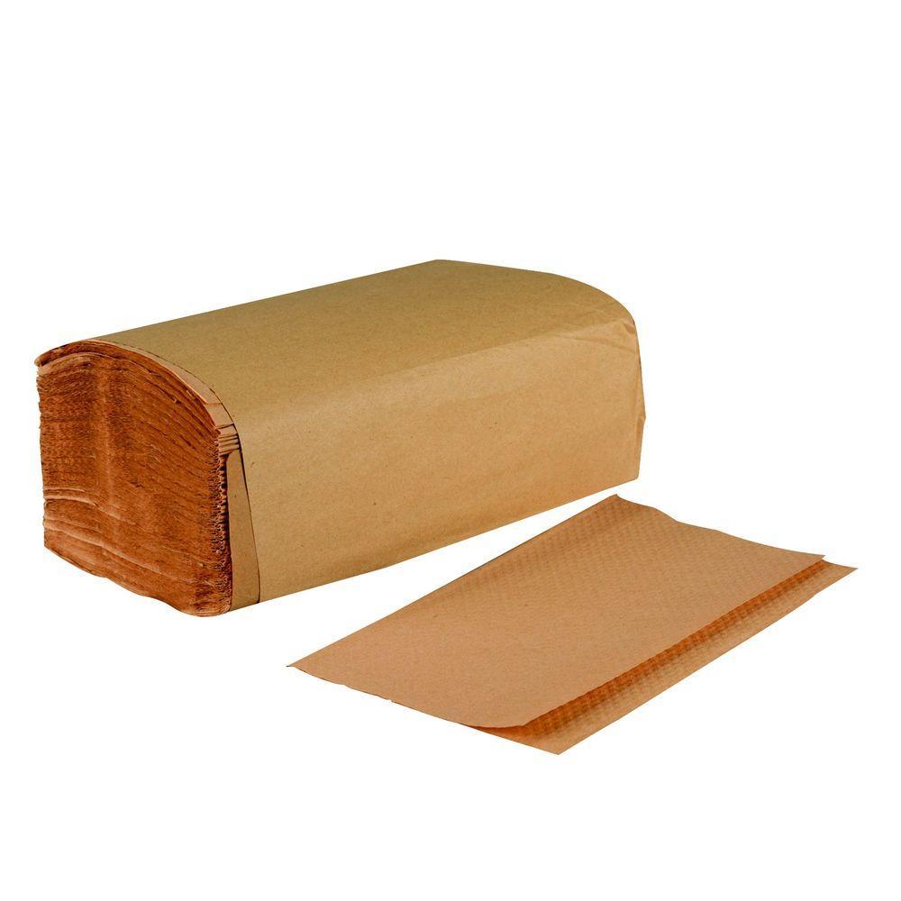 Brown Kraft Singlefold Paper Towels (16-Pack)
