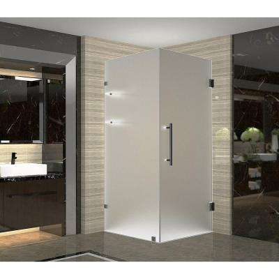 Aquadica GS 32 in. x 32 in. x 72 in. Frameless Square Shower Enclosure with Glass and Shelves in Oil Rubbed Bronze