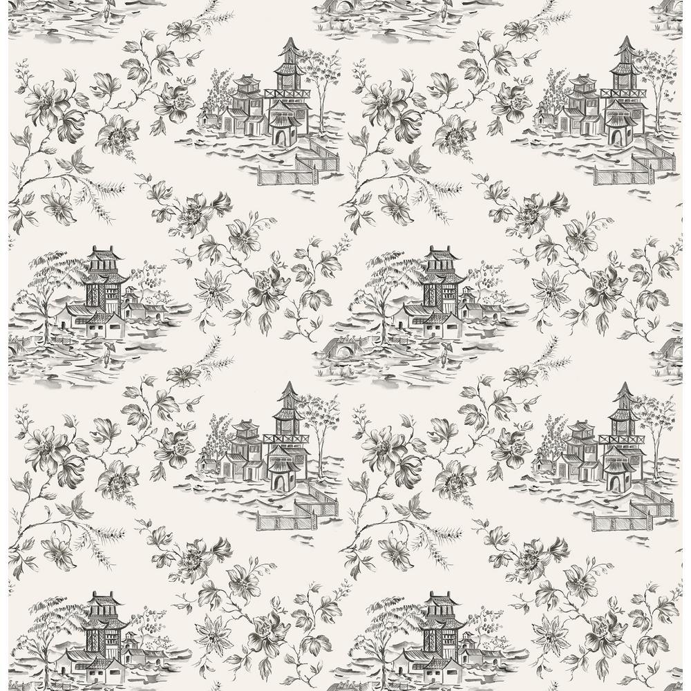 Zelda, Laure Ink Toile Wallpaper