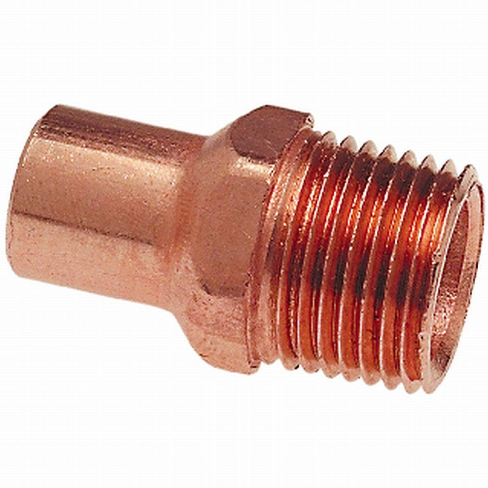 1/2 in. Copper FTG x MIPT Fitting Adapter
