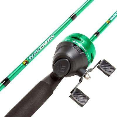 Swarm Series Spincast Rod and Reel Combo in Green Metallic