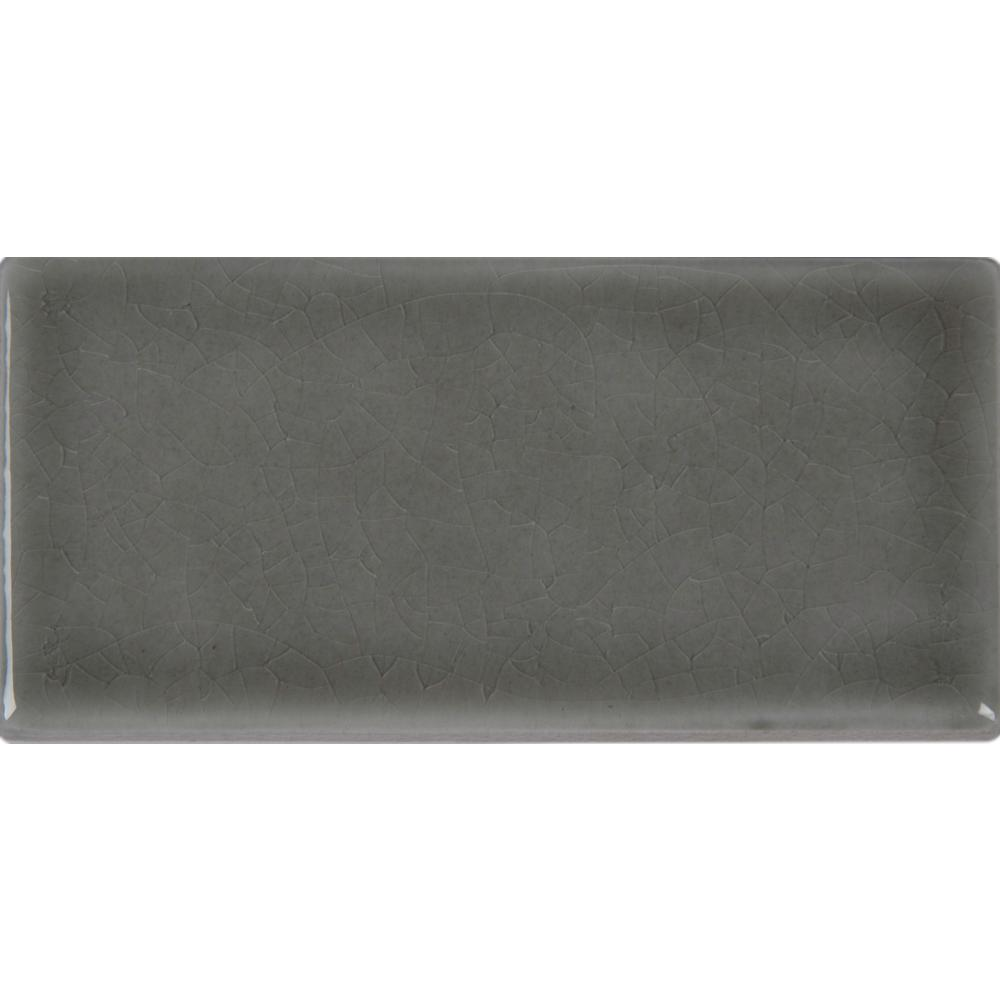 Subway 3x6 ceramic tile tile the home depot dove gray 3 in x 6 in handcrafted glazed ceramic wall tile 1 dailygadgetfo Image collections