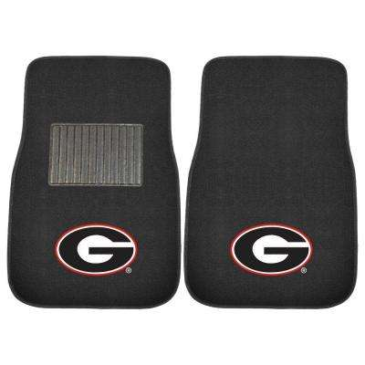 NCAA University of Georgia 2-Piece 17 in. x 25.5 in. Carpet Embroidered Car Mat