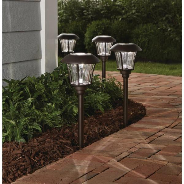 Bronze Solar Outdoor Integrated Led
