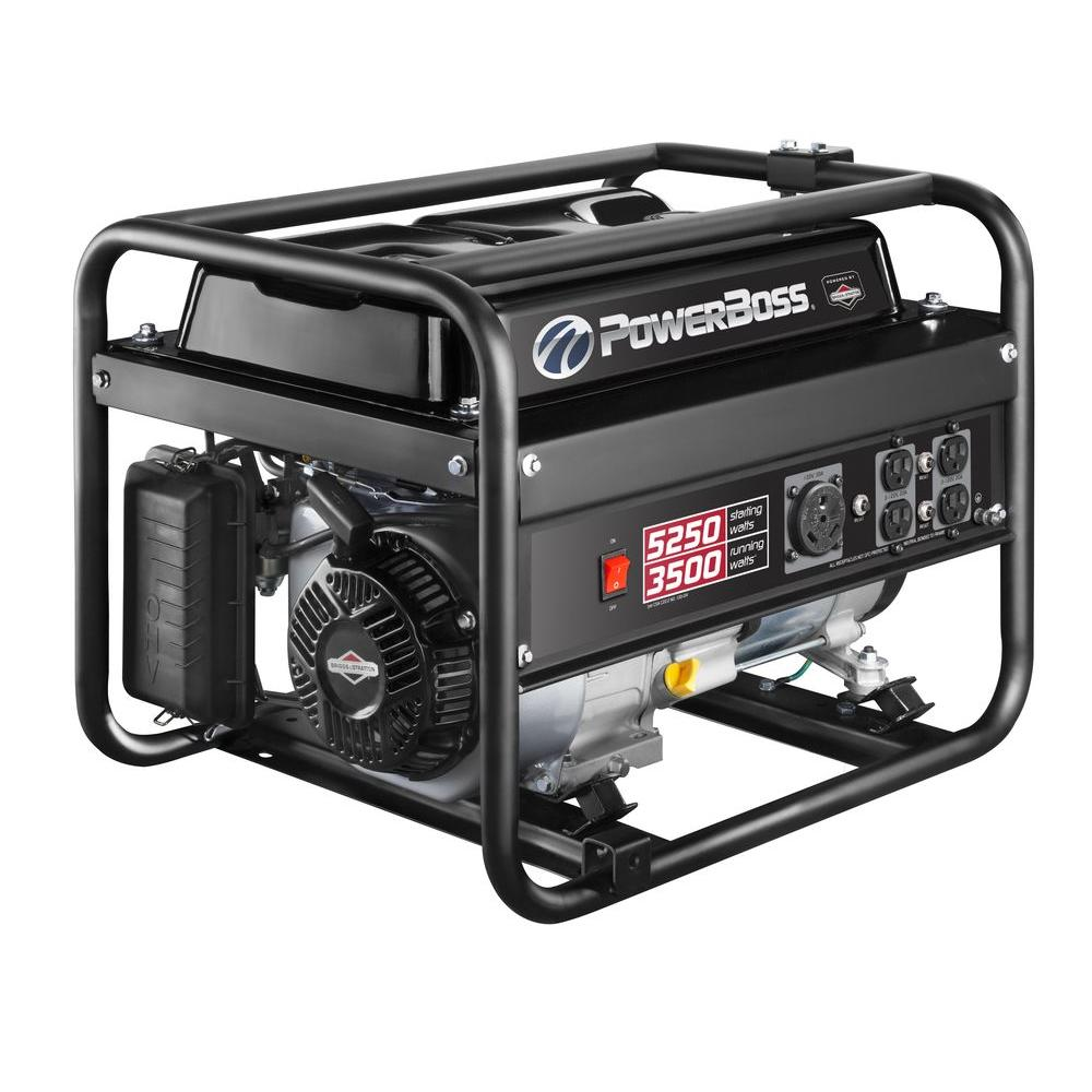 3,500-Watt Gasoline Powered Recoil Start Portable Generator with Briggs &