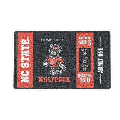 North Carolina State 30 in. x 18 in. Vinyl Indoor/Outdoor Turf Floor Mat