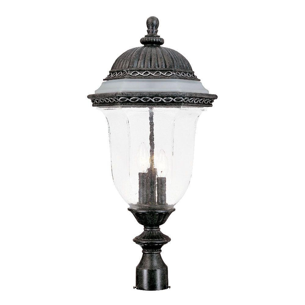 Acclaim Lighting Venice Collection Post-Mount 3-Light Outdoor Stone Light Fixture