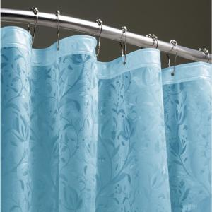 Floral 72 inch Blue 3D Shower Curtain by