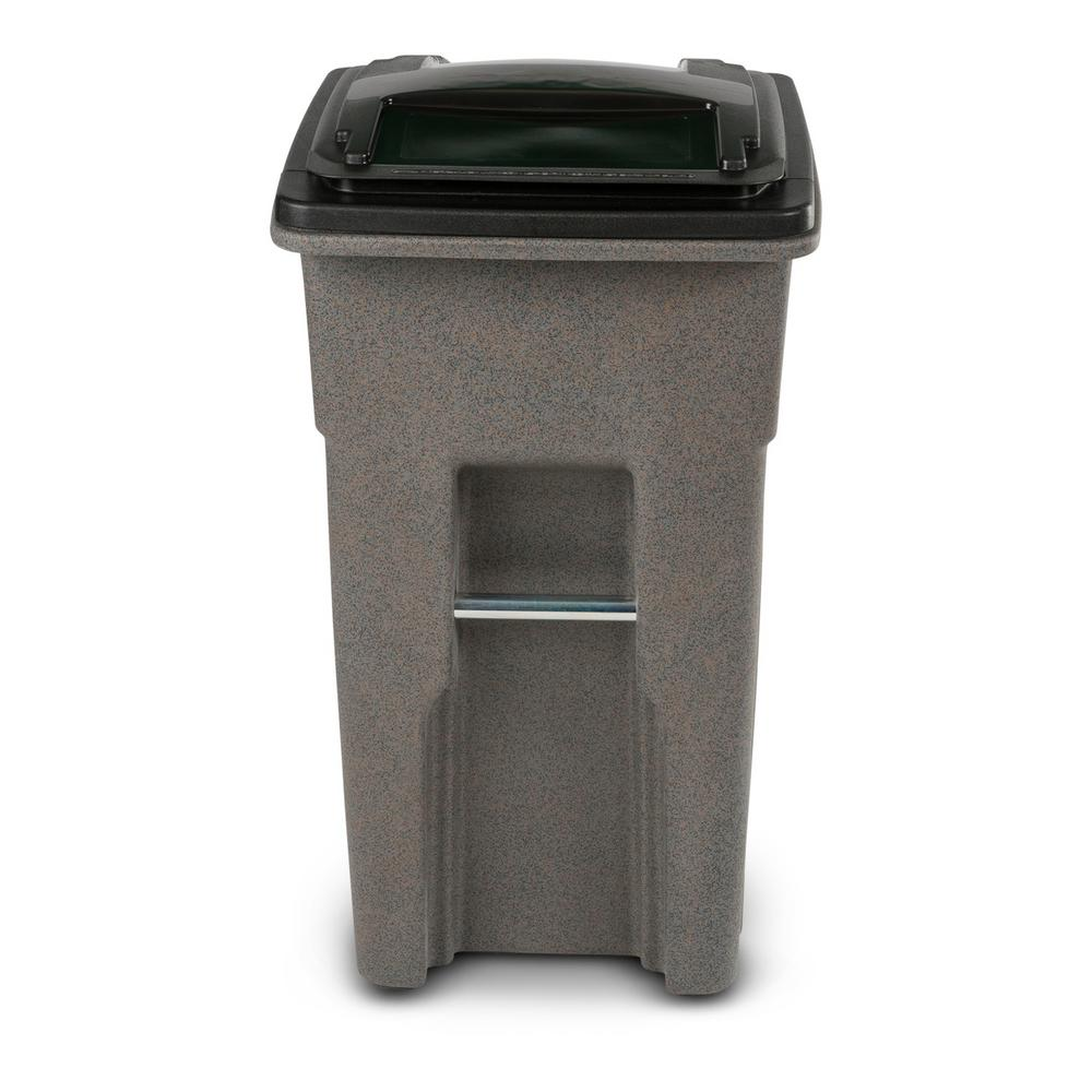 Toter 32 Gal Gray Round Trash Can