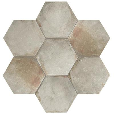 D'Anticatto Hex Grigio 11 in. x 12-5/8 in. Porcelain Floor and Wall Tile (11.22 sq. ft. / case)