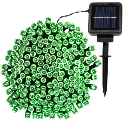 Outdoor 68 ft. Solar Round LED String Light in Green