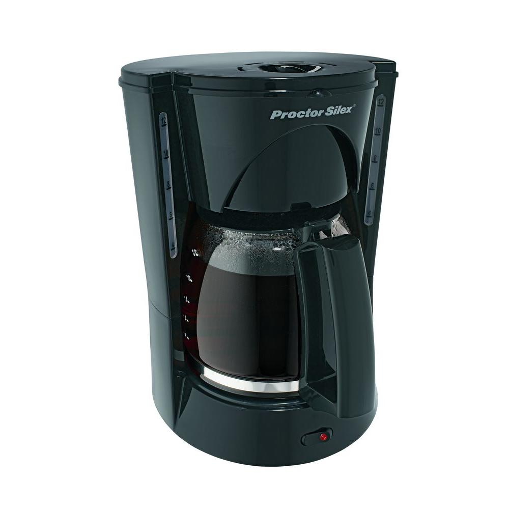 Proctor Silex 12-Cup Coffeemaker Black-DISCONTINUED