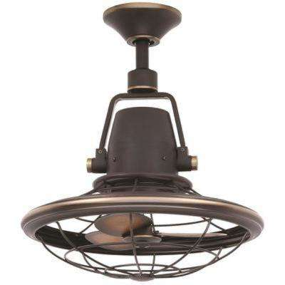 Bentley II 18.9 in. Outdoor Tarnished Bronze Ceiling Fan with Wall Control
