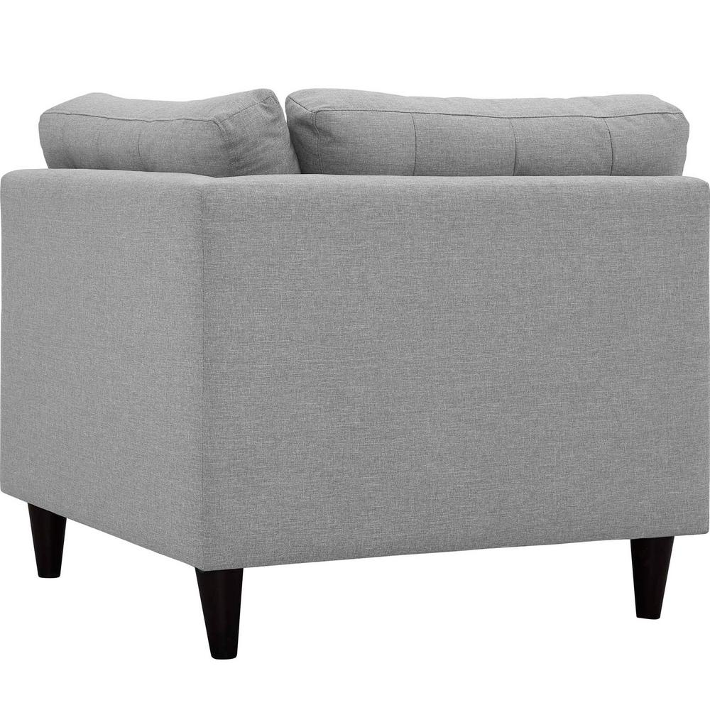 Empress Light Gray Upholstered Fabric Corner Sofa